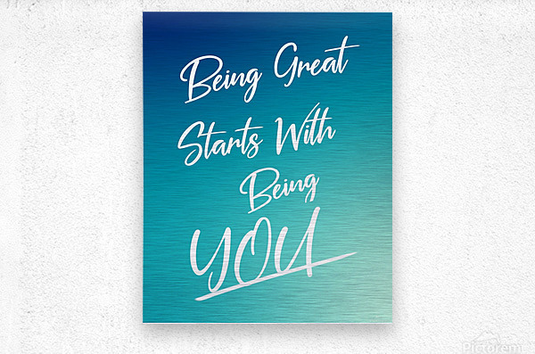 You are great   Metal print