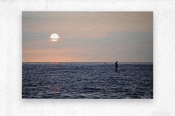 Sinking Sunset  Metal print