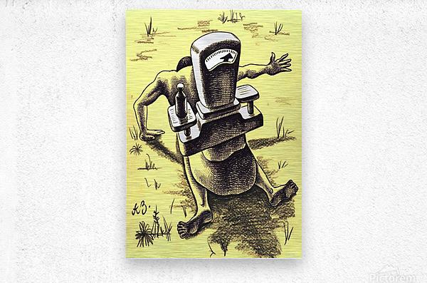 hardship  Metal print