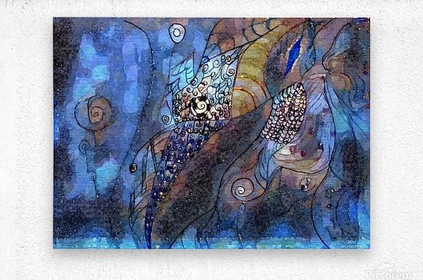 Blue Dimension  Metal print