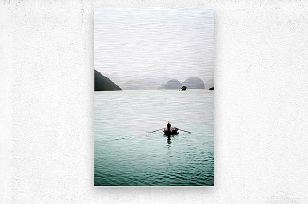 Ha Long Bay Fishing  Metal print