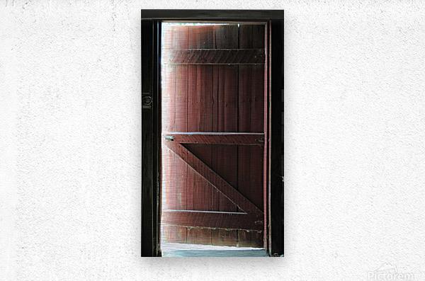 Barn Doors Open  Metal print