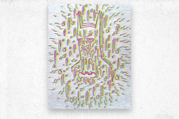 Meltyman  Metal print