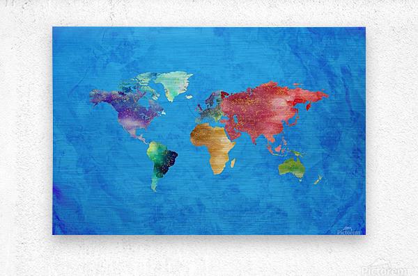 Artistic World Map III  Metal print