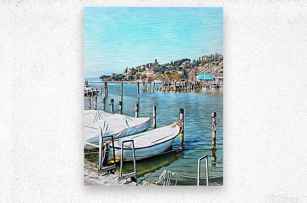 Moored Boats at Passignano  Metal print