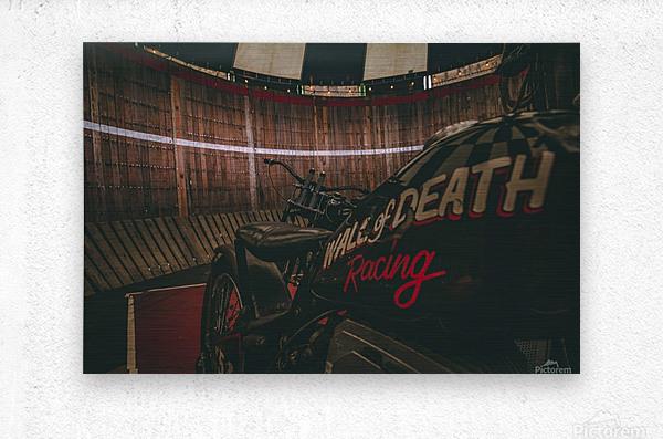 Wall of death Harley Davidson  Metal print