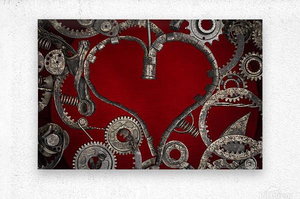 Mechanical Love  Metal print