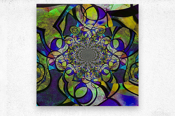 Abstract Fractal  Metal print