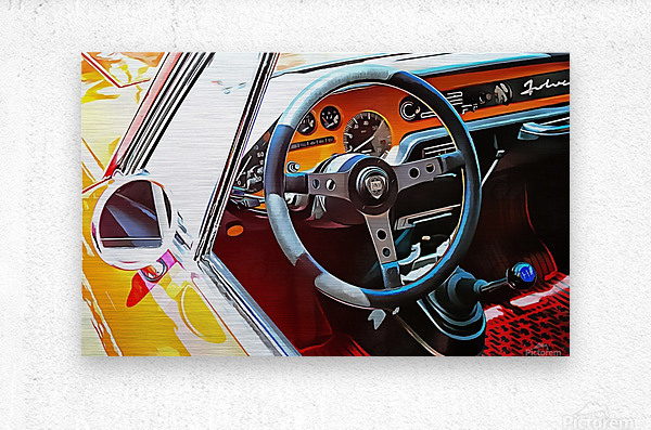 Lancia Fulvia Through The Window  Metal print