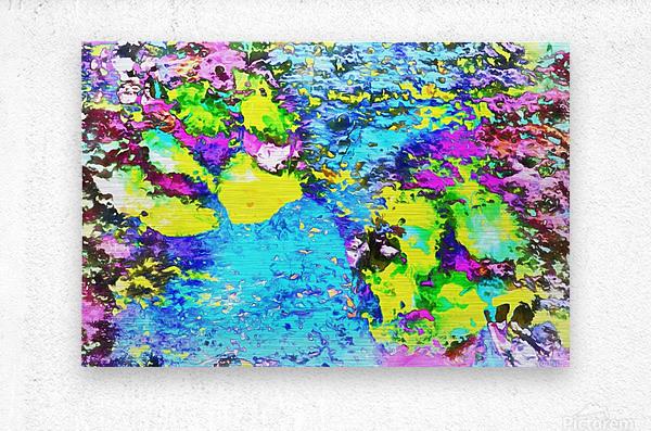 Paw Prints Seaside Paddle  Metal print