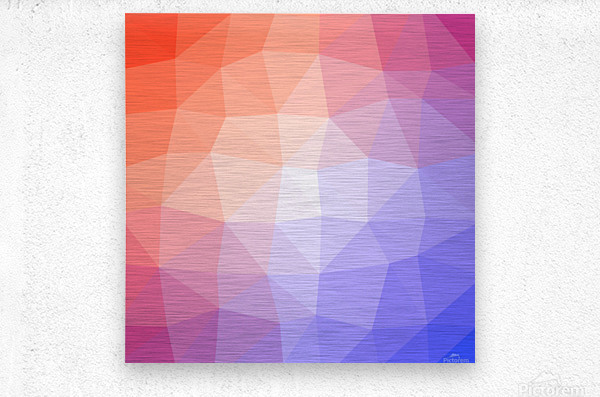 Abstract art patterns low poly polygon 3D backgrounds, textures, and vectors (5)  Metal print