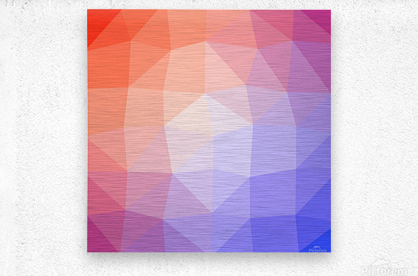 Abstract art patterns low poly polygon 3D backgrounds, textures, and vectors (6)  Metal print