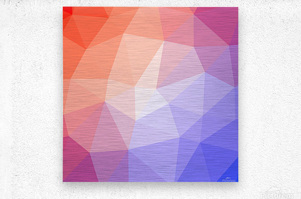Abstract art patterns low poly polygon 3D backgrounds, textures, and vectors (9)  Metal print