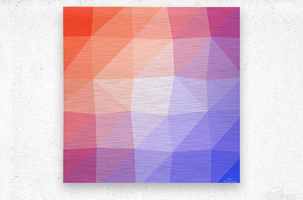Abstract art patterns low poly polygon 3D backgrounds, textures, and vectors (3)  Metal print