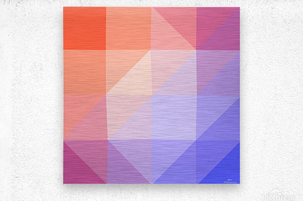 Abstract art patterns low poly polygon 3D backgrounds, textures, and vectors (13)  Metal print