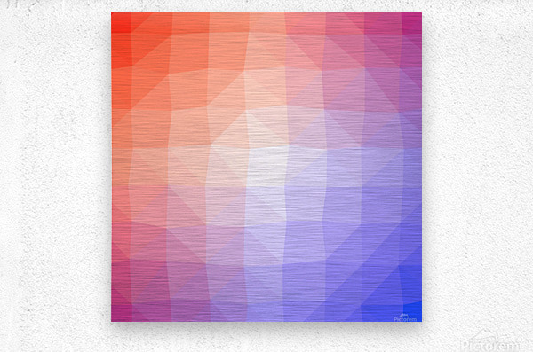 Abstract art patterns low poly polygon 3D backgrounds, textures, and vectors  Metal print