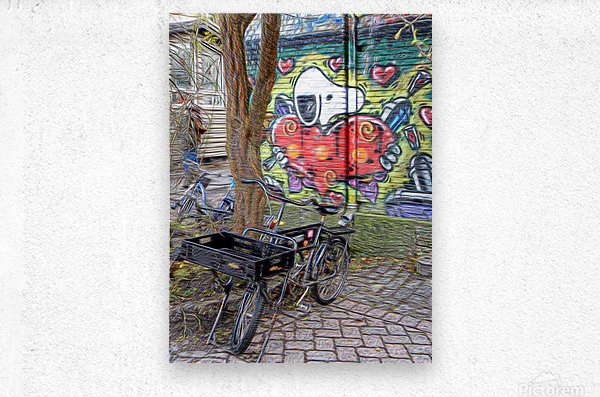 Bicycles at Rest  Metal print
