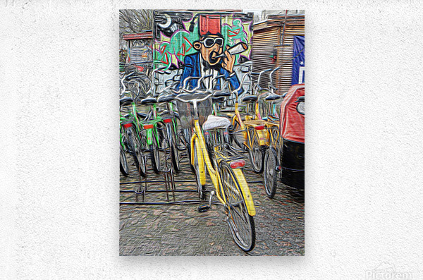 Do Not Cycle Under the Influence  Metal print