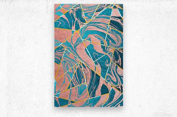 Geometric XXXXIII  Metal print