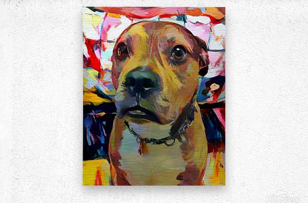 Dog Painting (5)  Metal print