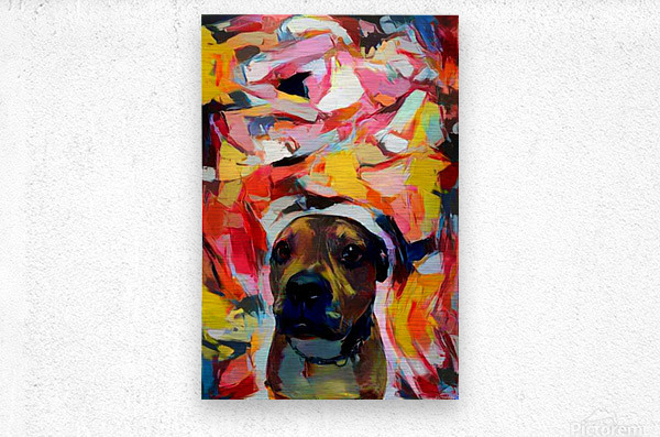Dog Painting (10)  Metal print