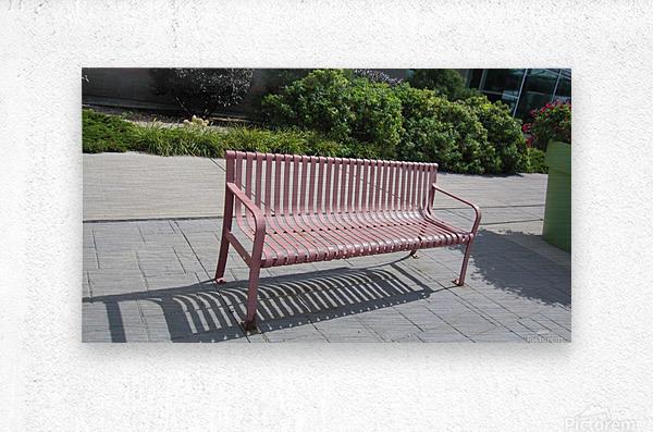 Bench (50)  Metal print