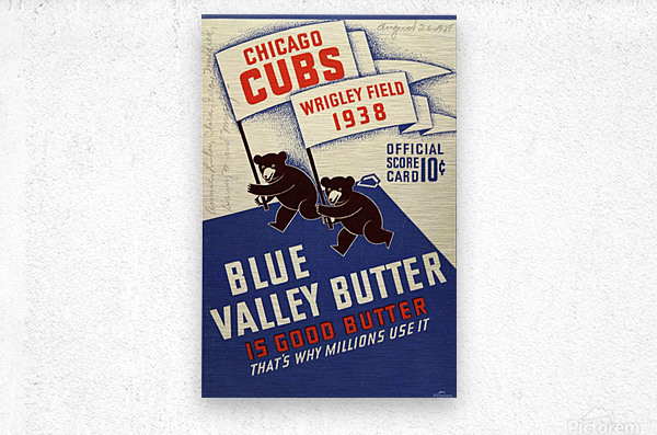 1938 Chicago Cubs Program Cover  Metal print