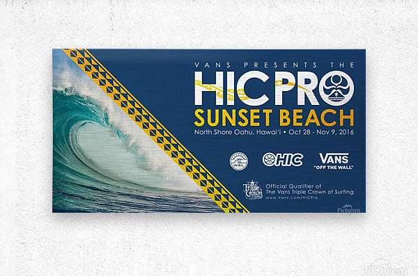 2016 VANS HIC PRO SUNSET BEACH Competition Print  Metal print