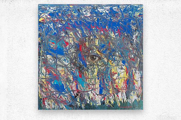 Zip up you eye   Metal print