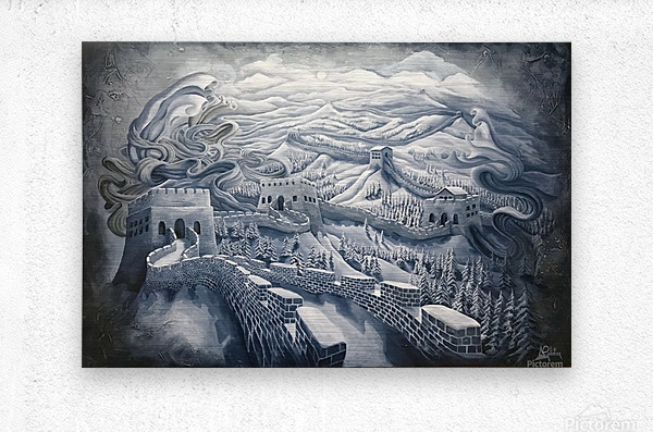 The first season of the Great Wall  Metal print