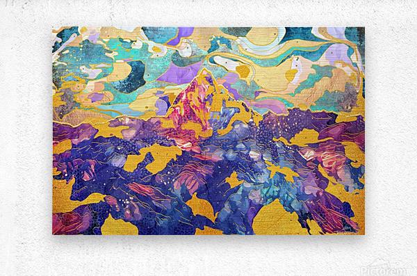 Dreamy Mountain - Illustration II  Metal print