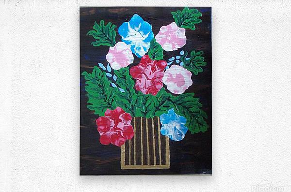 Flowers in box  Metal print