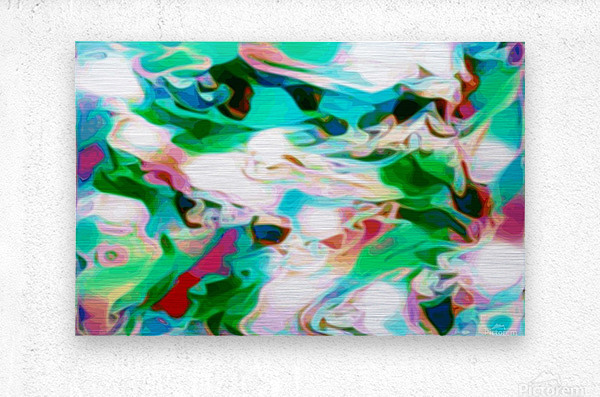 Waterfall - multicolor abstract swirl wall art  Metal print