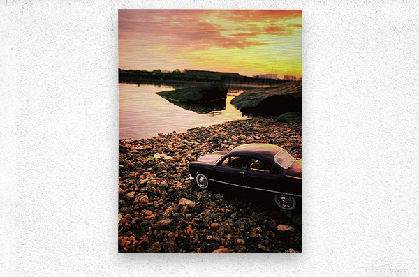 By the rivers of....  Metal print