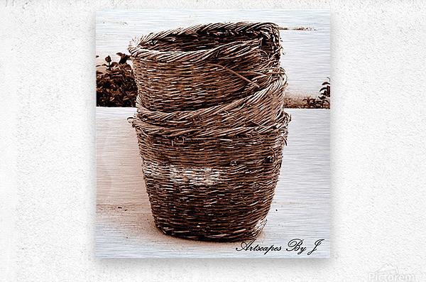 Grape Baskets  Metal print