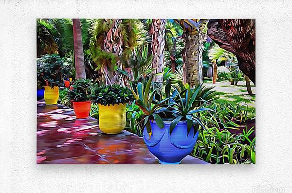 Colorful Plant Pots Marrakech 9  Metal print