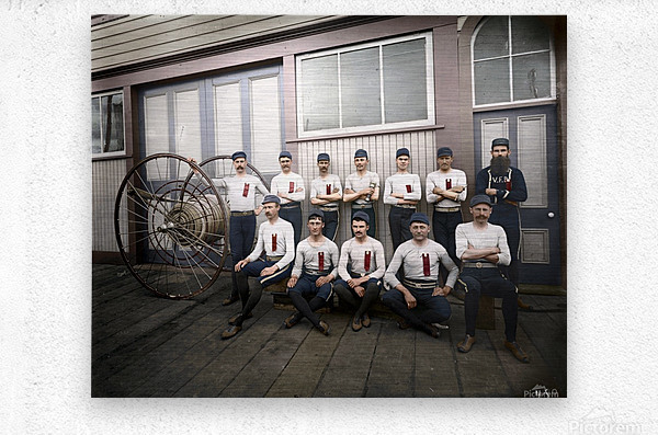 Vancouver hose reel racing team  Metal print