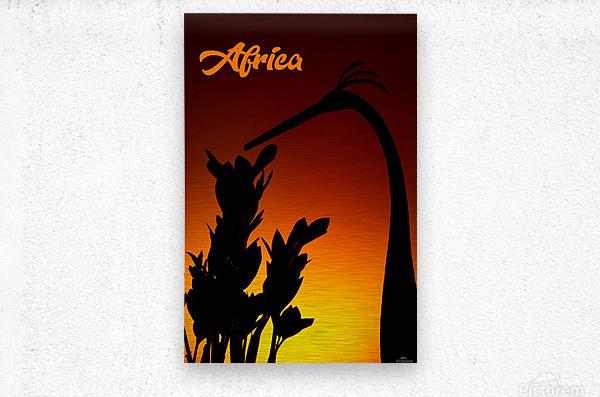 Africa sunrise  Metal print