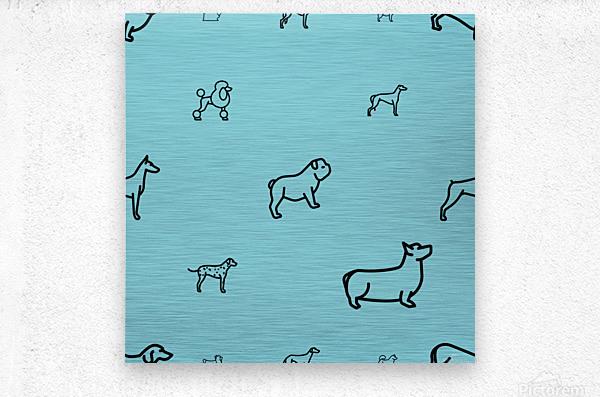 Dog (65)  Metal print