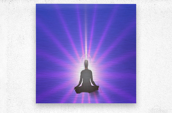 Meditation Art  Metal print