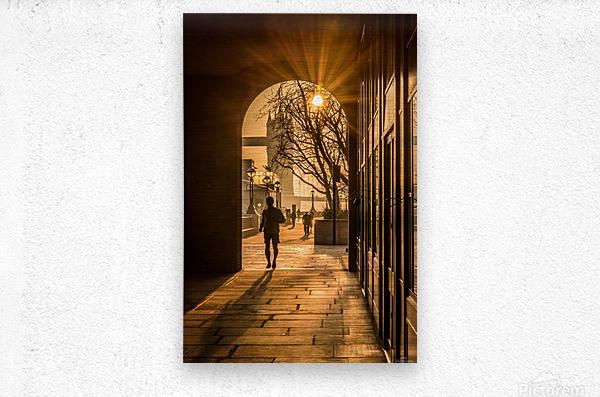 Silhouette  Tower Bridge London  Impression metal