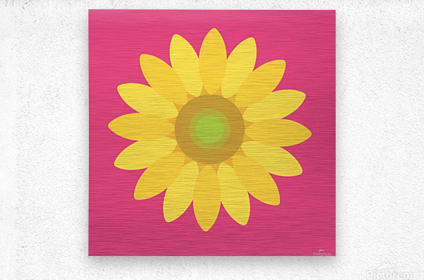 Sunflower (10)_1559875861.0244  Metal print