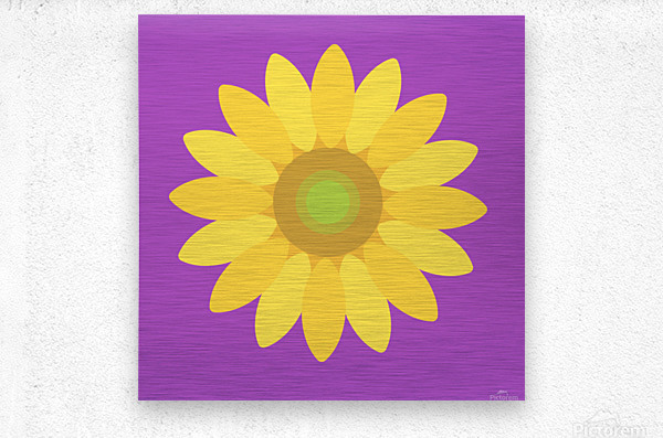 Sunflower (11)_1559876168.1472  Metal print