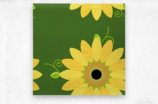 Sunflower (59)_1559876653.1233  Metal print