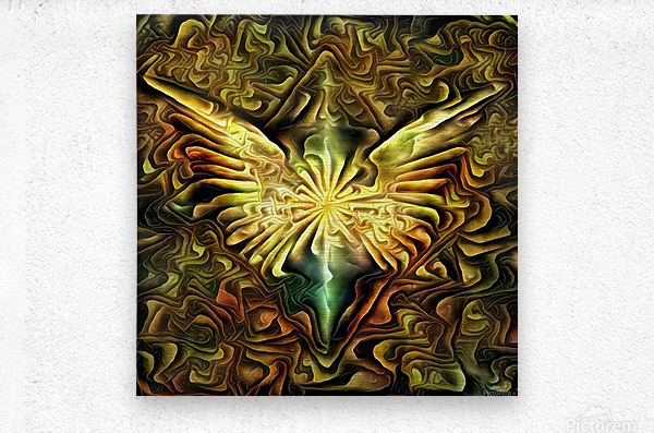 Shining Wings  Metal print