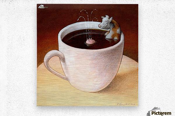 Coffee with milk  Metal print