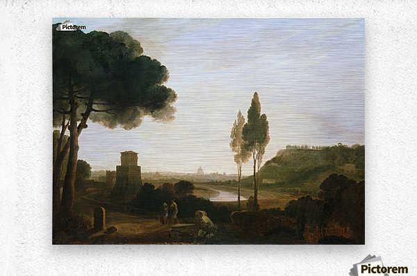 Rome and the Ponte Molle  Metal print