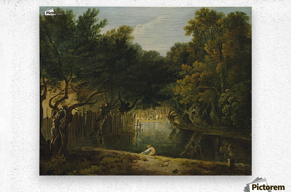 View of the Wilderness in St. James's Park  Metal print