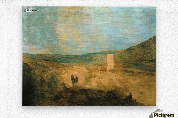 Landscape with castle  Metal print
