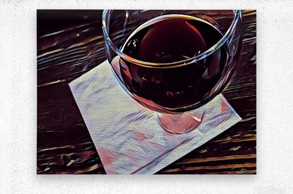 Wine Art  Metal print